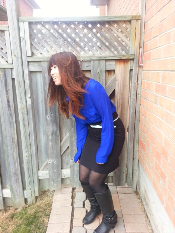 20130406150342322- Outfit #1 blue blouse and black pencil skirt