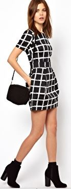 B&W Check Dress