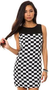 B&W Checkered Dress