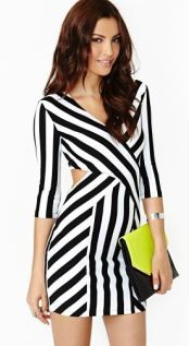 B&W Striped Dress